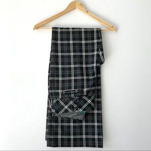 Anthropologie Taikonhu Trousers in Black Plaid